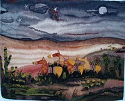 Horses Tapestries - Textiles - Dessert Crossing by Dennis Downes