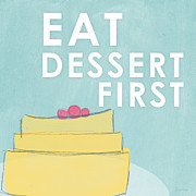 Food  Mixed Media Posters - Dessert Poster by Linda Woods