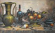 Dessert Wine Paintings - Dessert Table by B Poloni