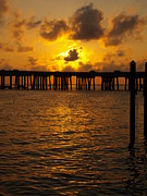 Florida Bridge Photos - Destin Harbor Sunset 1 by James Granberry