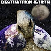 B-movie Art - Destination Earth by Gravityx Designs