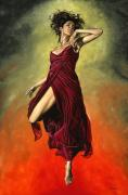 Female Metal Prints - Destinys Dance Metal Print by Richard Young