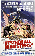 1968 Movies Posters - Destroy All Monsters, 1968 Poster by Everett