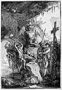 Bayonet Prints - DESTRUCTION OF IDOLS, c1750 Print by Granger