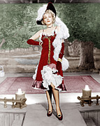 Ostrich Feathers Prints - Destry Rides Again, Marlene Dietrich Print by Everett
