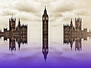 Big Ben Posters - Detached from time Poster by Sharon Lisa Clarke