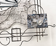 Steel Abstract Sculpture Posters - Detail - Jazz Fusion Poster by Idelle Okman Tyzbir