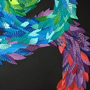 Paper Sculpture Posters - Detail - KUKULKAN Poster by Mitza Hurst