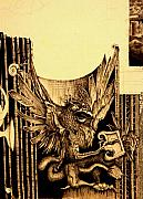 Talons Painting Prints - Detail 3 of - An Unfinished Dream - Durer Print by J Vincent Scarpace