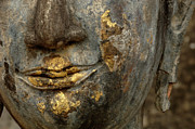World Peace Art - Detail Buddhas Lips by Bob Christopher
