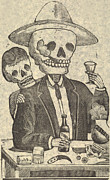 Rire Metal Prints - Detail From Calavera Tapatia Metal Print by Everett