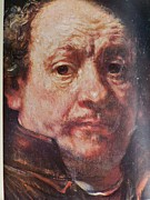Religious Prints Photos - Detail from Portrait of the Artist Rembrandt Canady Portfolio 9 by Jake Hartz