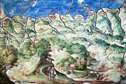Cartography Photos - Detail Of 16th Century Map Of Liguria by Sheila Terry