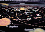 Cartography Photos - Detail Of A Map Of The Planets by Ryan McVay
