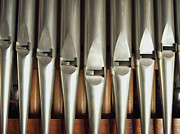 In A Row Art - Detail Of A Pipe Organ by Gregor Hohenberg