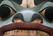 Devotional Art Photo Posters - Detail Of A Totem Pole Poster by Anne Keiser