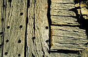 France Doors Framed Prints - Detail of a wooden door Framed Print by Sami Sarkis