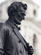 American Politician Metal Prints - Detail of Abraham Lincoln Metal Print by Augustus Saint-Gaudens