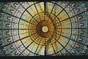 Stained Glass Windows Framed Prints - Detail Of An Ornated Stained-glass Framed Print by Richard Nowitz
