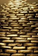 Footpaths Art - Detail Of Cobblestones, Dublin, Ireland by The Irish Image Collection