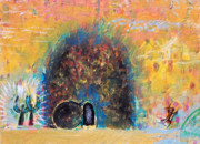 Metaphysical Paintings - Detail of Empty Tomb by Anne Cameron Cutri