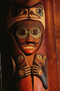 Devotional Art Photo Posters - Detail Of House Post In The Totem Bight Poster by Rich Reid