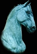Equine Sculpture Sculptures - Detail of LaLuz by Peggy Detmers