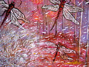 Dandelion Paintings - Detail of Make a Wish by Leslie Weddell