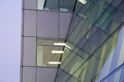 Workplace Framed Prints - Detail of Modern Building Exterior Framed Print by Paul Edmondson