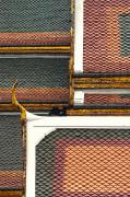 Patterned Framed Prints - Detail Of The Roof Of The Grand Palace Framed Print by Anne Keiser