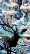 Needle Tapestries - Textiles Metal Prints - Detail of Winter Metal Print by Kimberly Simon