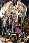 Skull Paintings - Deterioration Of Mind Over Matter by Otto Rapp