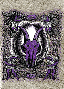 Goat Drawings - DethMetal by Karl Addison