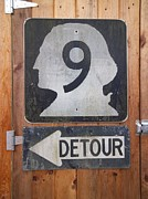 Detour Posters - Detour to Highway 9 Poster by Helen  Campbell