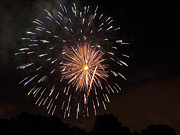 Pyrotechnics Prints - Detroit Area Fireworks -10 Print by Paul Cannon
