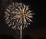 Pyrotechnics Prints - Detroit Area Fireworks -4 Print by Paul Cannon