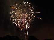 Pyrotechnics Prints - Detroit Area Fireworks -7 Print by Paul Cannon