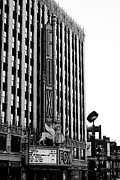 Alanna Pfeffer Framed Prints - Detroit Fox Theatre Black and White Framed Print by Alanna Pfeffer