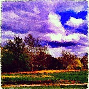 Impressionism Art - Detroit Landscape Impressionist Art by Fotochoice Photography
