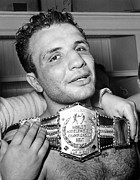 Champ Boxer Prints - Detroit, Mich. Jake Lamotta Is Awarded Print by Everett