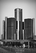 Headquarters Digital Art Originals - Detroit Renaissance Center General Motors GM World Headquarters by Ryan Dean