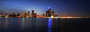 Renaissance Center Framed Prints - Detroit Skyline 1 Framed Print by Gordon Dean II