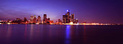 Lights Digital Art Originals - Detroit Skyline 2 by Gordon Dean II