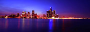 Lights Digital Art Originals - Detroit Skyline 3 by Gordon Dean II