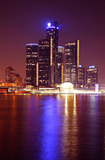 River Digital Art Originals - Detroit Skyline 5 by Gordon Dean II