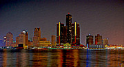 Cityscape Digital Art - Detroit Skyline  by Byron Fli Walker