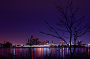 Big 3 Prints - Detroit Skyline Print by Cale Best