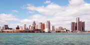 Skylines Photo Originals - Detroit Skyline by Greg Arnold