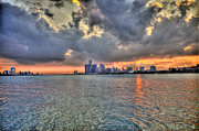 New York New York Com Digital Art Metal Prints - Detroit Sunset  Metal Print by Nicholas  Grunas