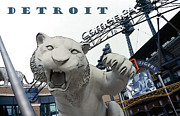 Baseball Digital Art Posters - Detroit Tigers I Poster by Linda  Parker